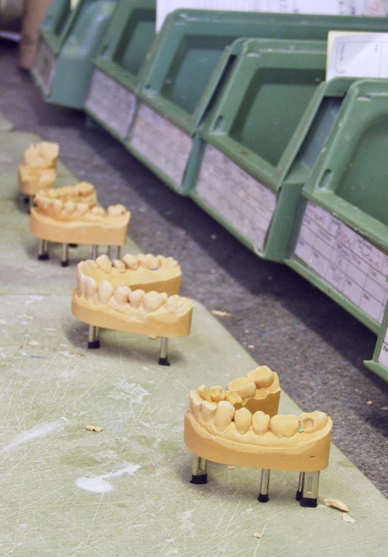 Plaster room models.